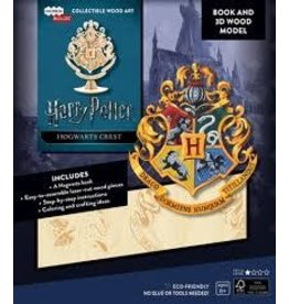 Insight Editions IncrediBuilds Harry Potter Hogwarts Crest Book and 3D Wood Model