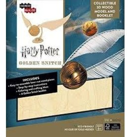 Insight Editions IncrediBuilds Harry Potter Golden Snitch 3D Wood Model and Booklet