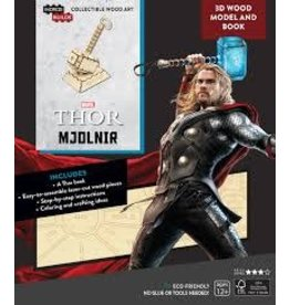 Insight Editions IncrediBuilds Marvel Avengers Thor 3D Wood Model and Book