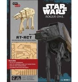 Insight Editions IncrediBuilds Star Wars Rogue One AT ACT 3D Wood Model and Book
