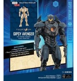 Insight Editions IncrediBuilds Pacific Rim Uprising Gipsy Avenger 3D Wood Model and Poster