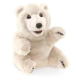 Folkmanis Puppets Folkmanis Sitting Polar Bear Puppet