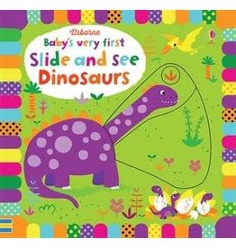 Educational Development Corporation Usborne Babys Very First Slide and See Dinosaurs