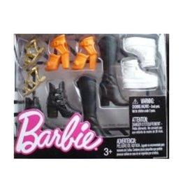 Mattel Barbie Accessories Shoe Pack Assortment Black Boots White Orange Pumps