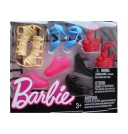 Mattel Barbie Accessories Shoe Pack Assorted Red Pumps Pink Sneakers