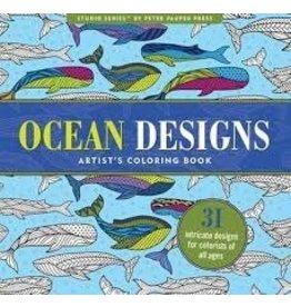 Peter Pauper Press Inc Artists Coloring Book Ocean Designs