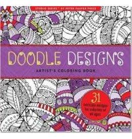 Peter Pauper Press Inc Artists Coloring Book Doodle Designs