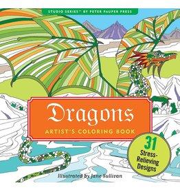 Peter Pauper Press Inc Artists Coloring Book Dragons