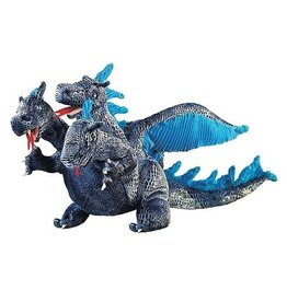 Folkmanis Puppets Folkmanis Three Headed Dragon Blue