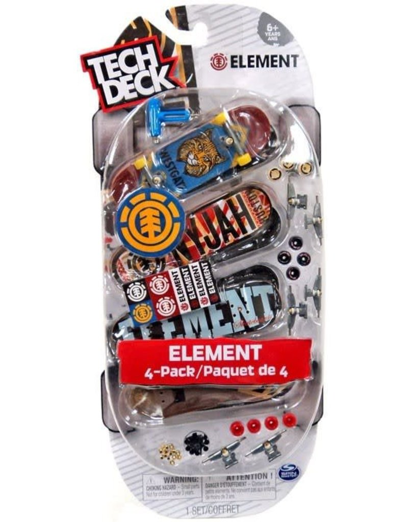 Toysmith Tech Deck Boards 4 Pack Element
