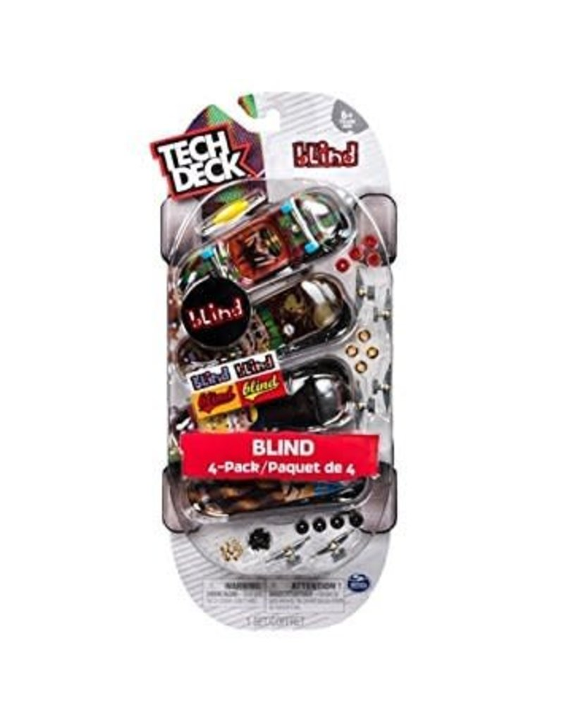 Toysmith Tech Deck Boards 4 Pack Blind