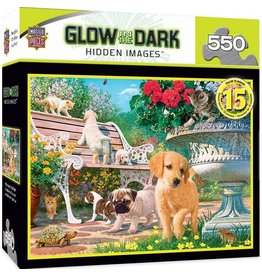 Master Pieces MasterPieces Hidden Images Glow In The Dark Afternoon at the Park 550 Piece Puzzle