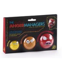 GiftCraft The Anger Managers Stress Ball Set of 3 Boxed