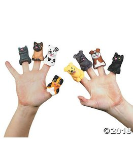 Fun Express Cat Dog Finger Puppet Bulk