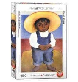 Eurographics Eurographics 1000 Piece Puzzle Portrait of Ignacio Sanchez by Diego Rivera
