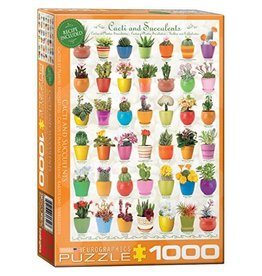 Eurographics Eurographics 1000 Piece Puzzle Cacti and Succulents