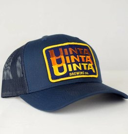 Navy Stacked Patch Hat