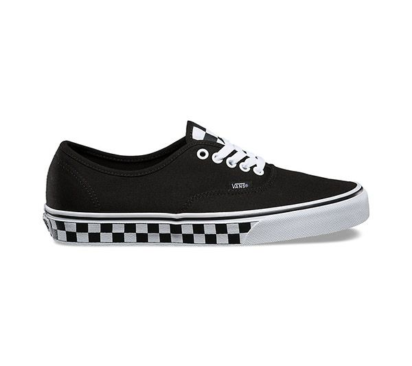 vans checkered authentic black and white