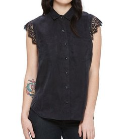 Obey OBEY | HEART NOIR BUTTON DOWN BLOUSE