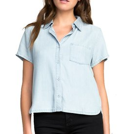 RVCA RVCA | LETS GO CHAMBRAY BLOUSE