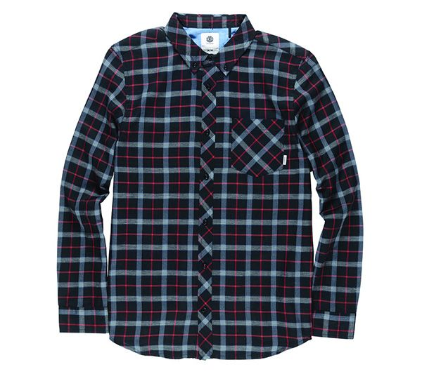 Element ELEMENT | BOY'S  TAMPA L/S PLAID WOVEN