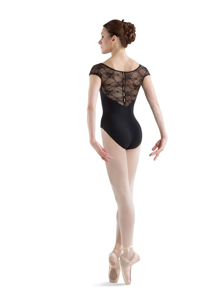 Bloch L6042 Button Back Cap Sleeve Leotard