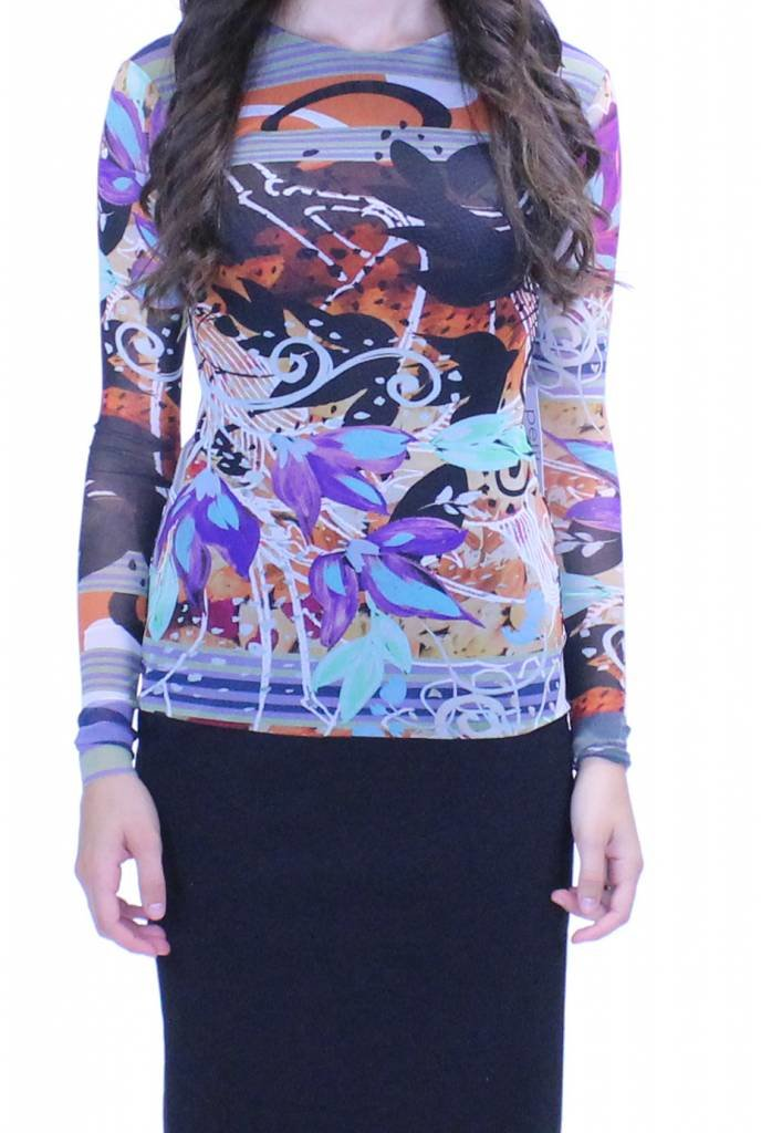 Petit Pois Abstract Print Top
