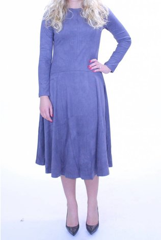 Bianco Nero Grey Seude Dress