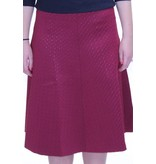 Bianco Nero Scuba Skirt with Textured Squares