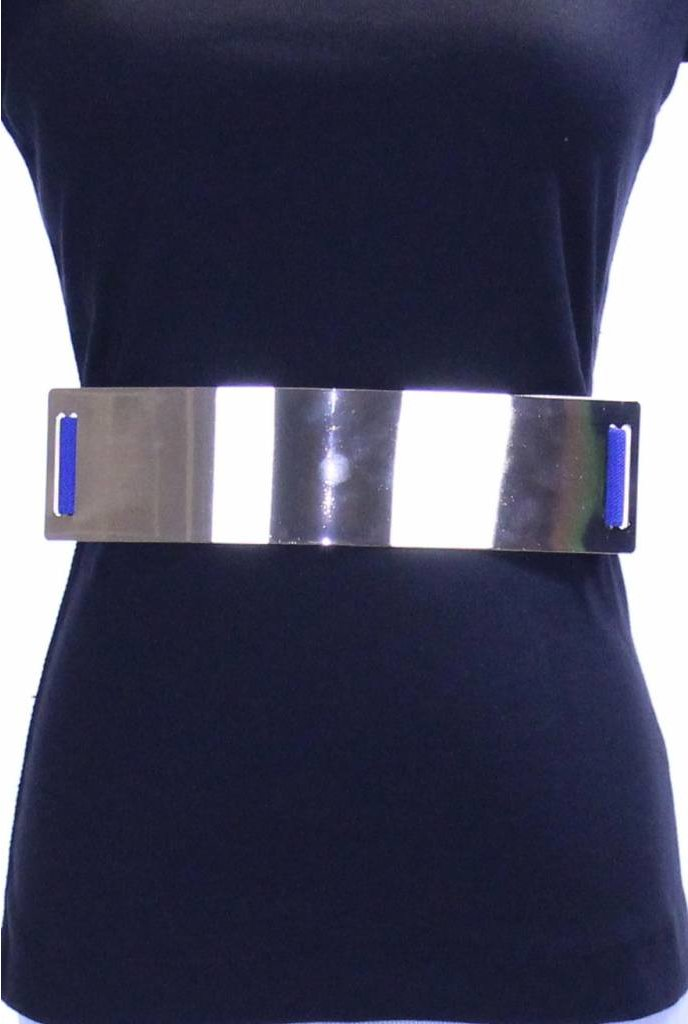 Sheek Metal Plate Belt Royal