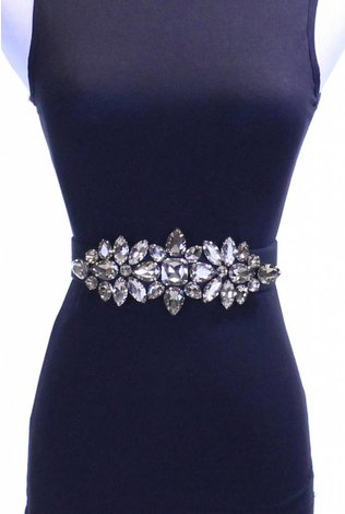 Two 12 Fashion Royal Crystal Best Belt Champagne