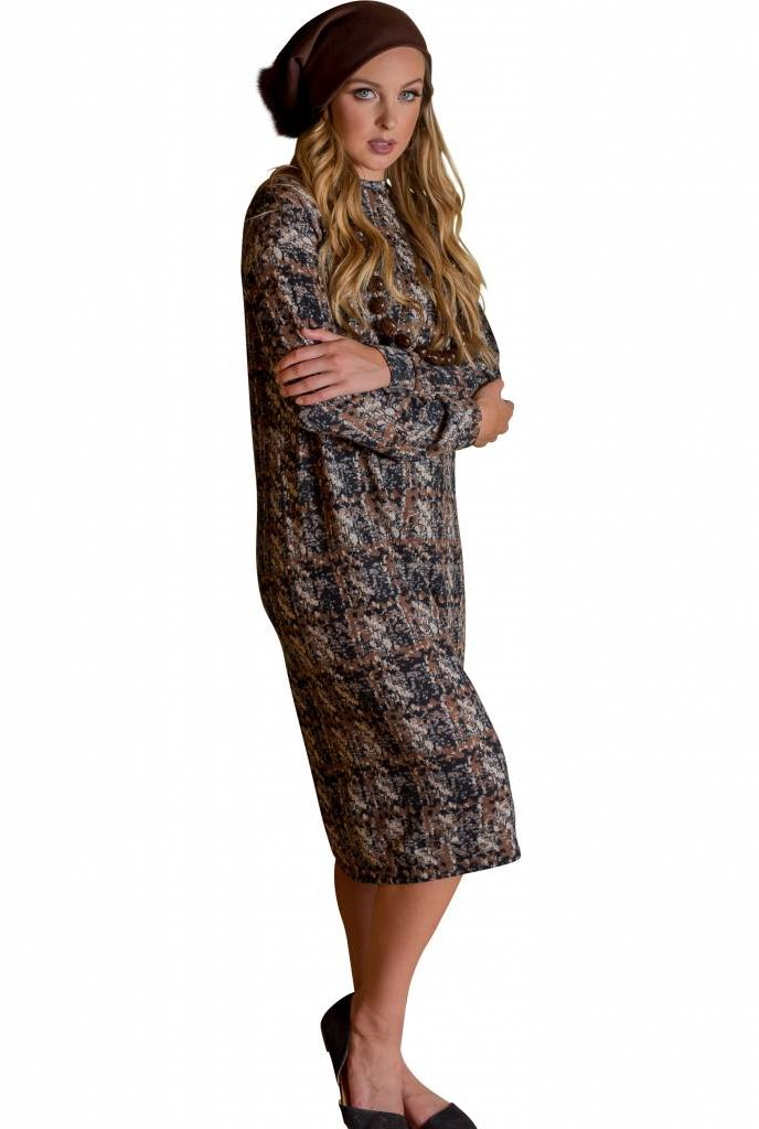 Deela Brown Sweater Dress