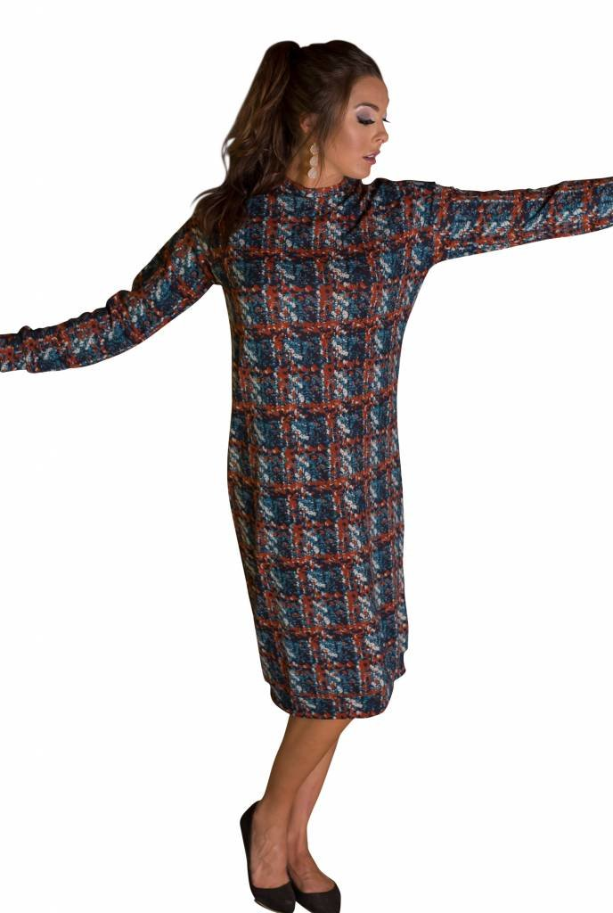 Deela Rust Sweater Dress