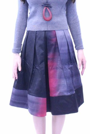 MW Burgundy Ombre Skirt 70% OFF