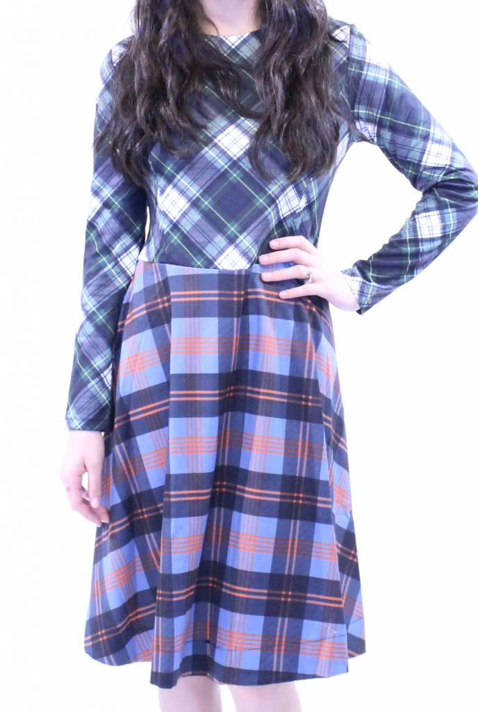 MW Plaid Swing Dress