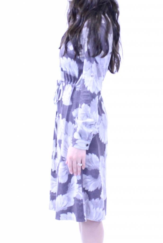 MW Flowery Suede Dress