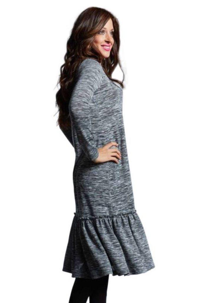 Japparel Ruffled Sweater Dress