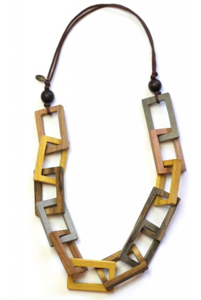 Sylca Square Link Necklace
