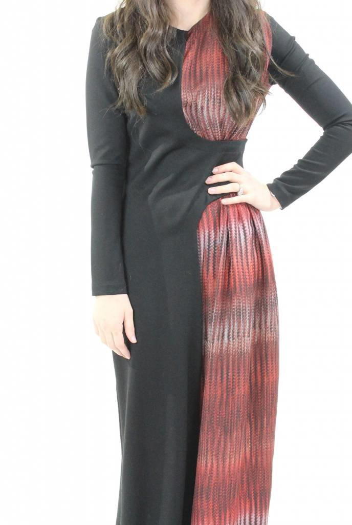 AC+CO Ruched Shoulder Maxi with Belt