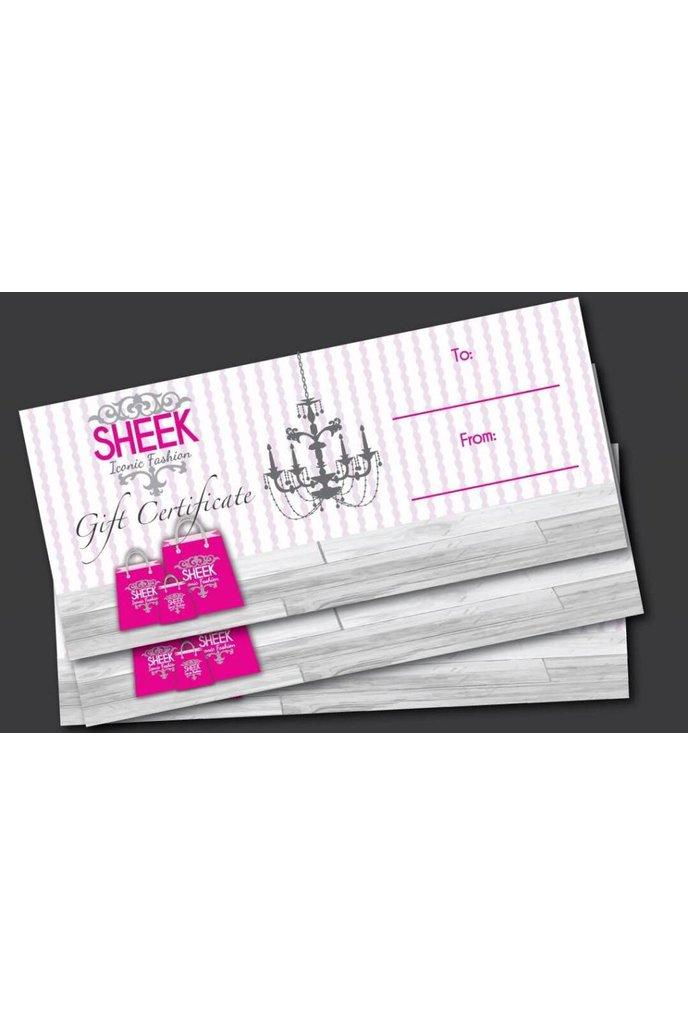 Sheek Gift Certificates $300