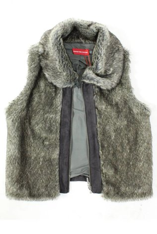 Monte Carlo Cozy Fur Vest with Zipper