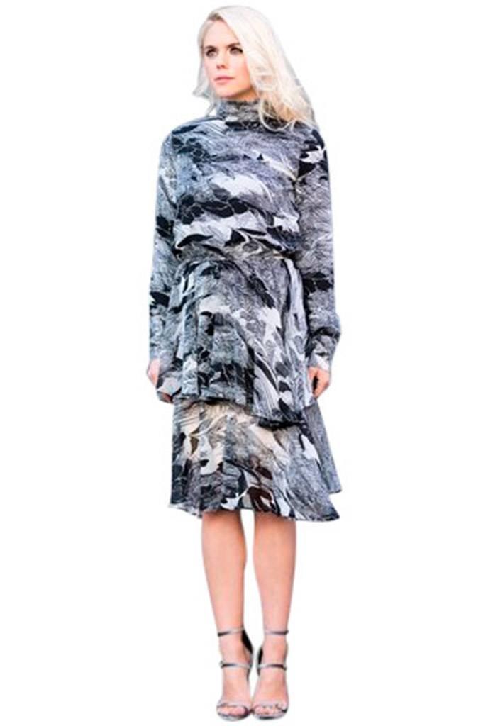 Raju Joyce Ruffle Tie Back Dress