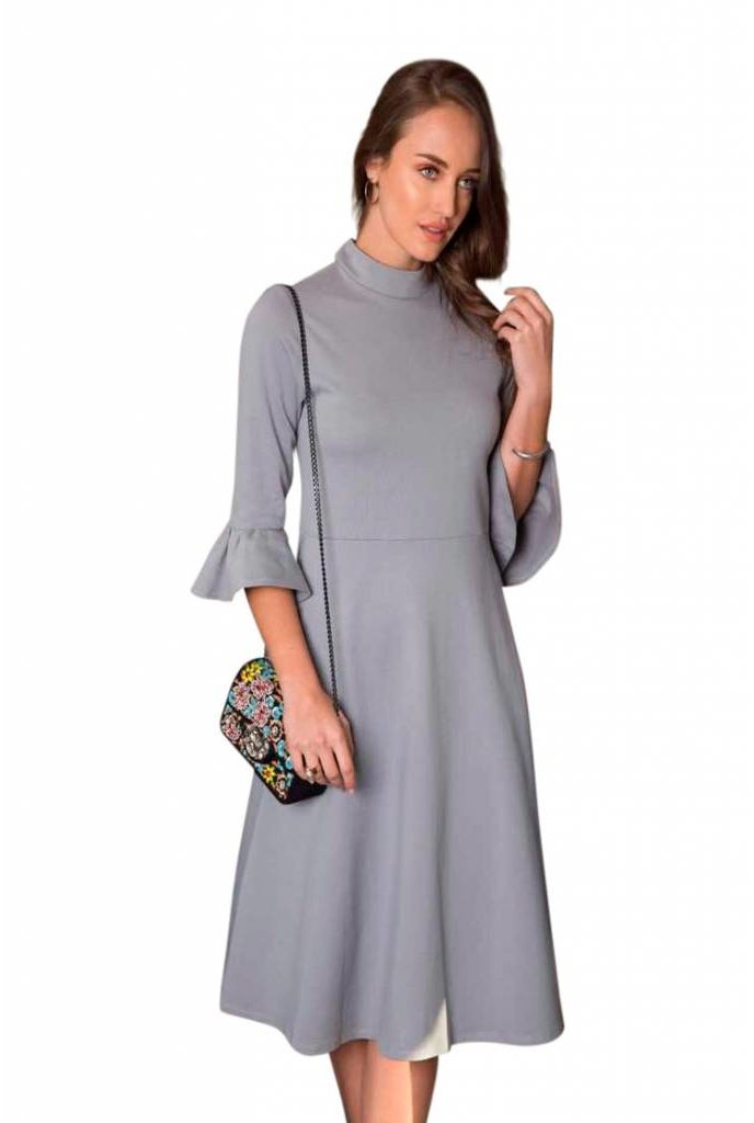 Go Couture Go Couture Bell Sleeve Dress