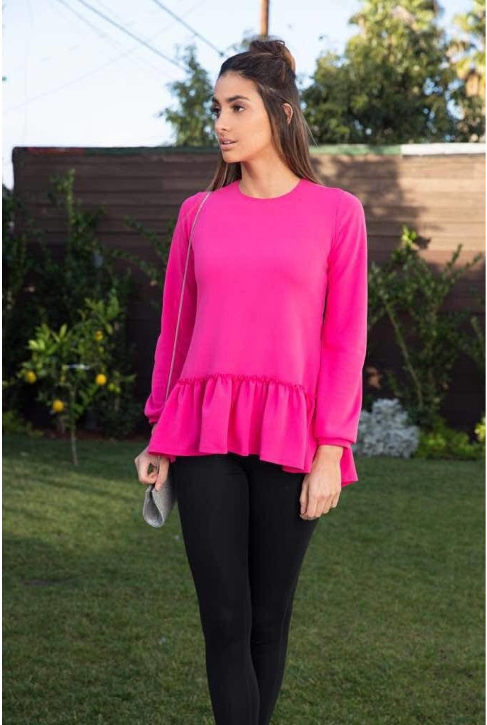 Go Couture Go Couture Ruffle Bottom Top