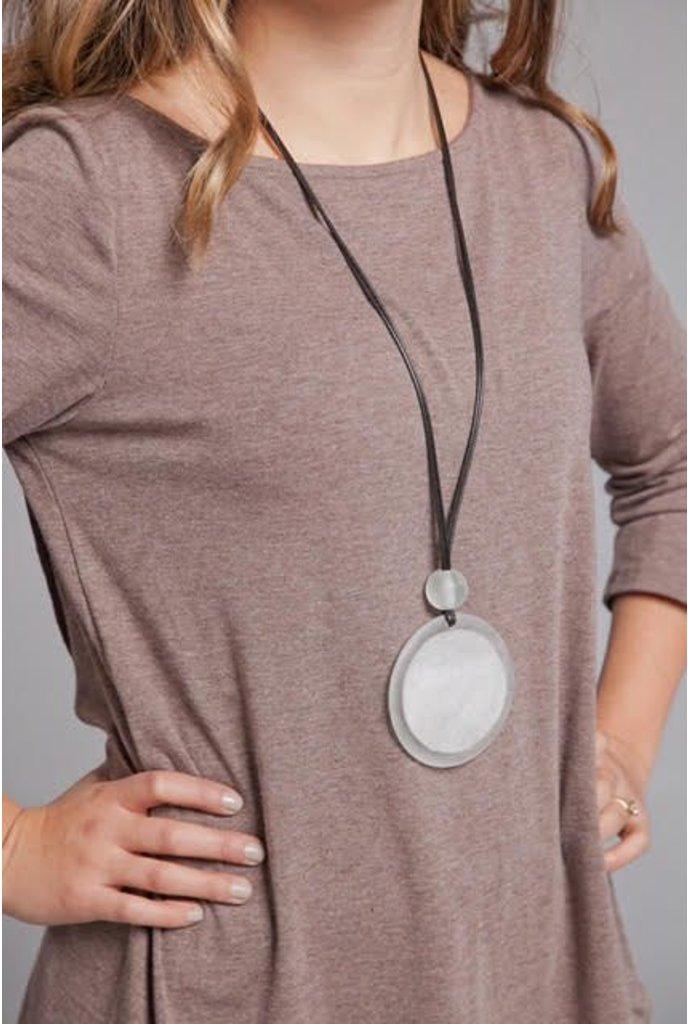 Sylca Silver Resin Pendant Necklace
