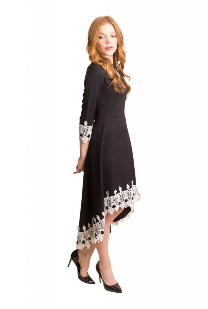 Apparalel High Low Crepe Dress