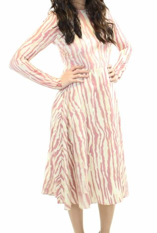 Ermana Printed Mauve Dress