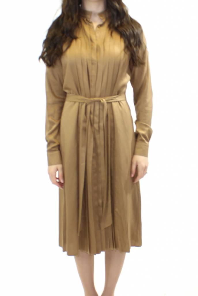 Ermana Front Pleat Cotton Dress