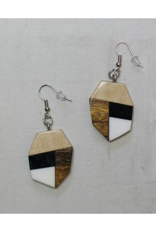 Sylca Wooden Geometric Earings