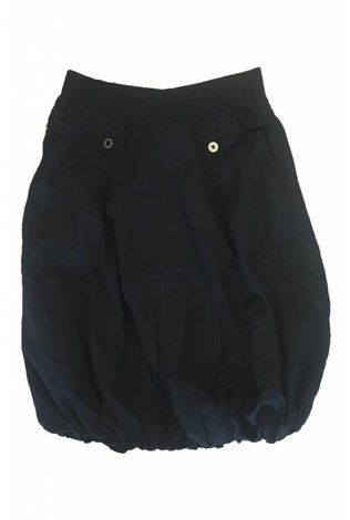 Hardtail Slash Pocket Parachute Skirt Black
